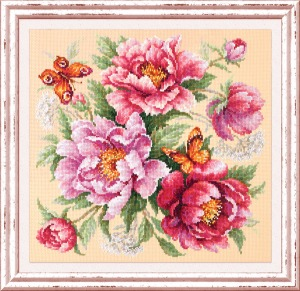 Magic Needle Kit/Flower Magic. Peonies-140-001