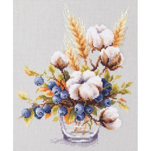 Magic Needle Kit/Blooming cotton and blueberry-100-013
